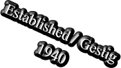 Established / Gestig 1940